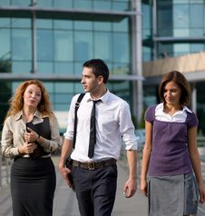 Free Group Of Office Workers Outdoor Stock Photo - 19457940