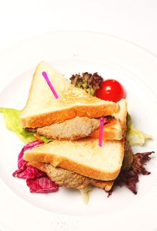 Free Sandwich On A Plate Stock Photography - 19458152