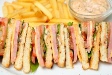 Free Sandwich On A Plate Royalty Free Stock Photography - 19458297