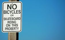 Free No Bicycles Or Skateboarding Stock Images - 19459364