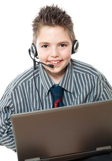 Free Portrait Of Smiling Business Boys Stock Photos - 19459493
