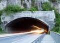 Free Car Lights Trails In A Veliko Trnovo Tunnel Royalty Free Stock Image - 19462746