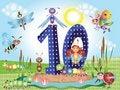 Free Number Ten Royalty Free Stock Image - 19466006