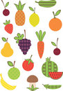 Free Fruit And Vegetable Collection. Royalty Free Stock Photography - 19466347