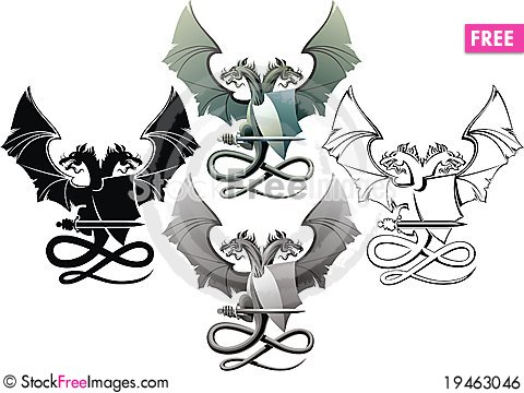 Free Dragons Royalty Free Stock Image - 19463046