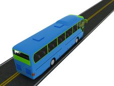 Bus On Road. Royalty Free Stock Images