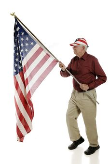 Free Senior Flag-Bearer Royalty Free Stock Image - 19460346