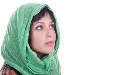 Free Beauty With A Head Scarf Royalty Free Stock Image - 19460356