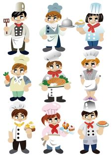 Cartoon Chef Icon Stock Images