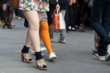 Free Women Legs In Crowd Royalty Free Stock Photography - 19460707