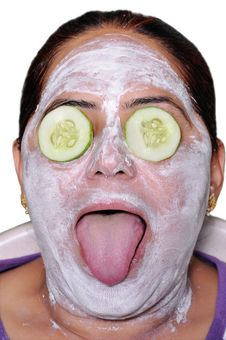 Free Cucumber Face Pack Stock Photography - 19460732