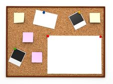 Free Corkboard With Paper Sticker Royalty Free Stock Photos - 19460928