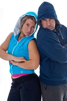 Free Men And Woman In Sports Clothes Stock Photography - 19461602