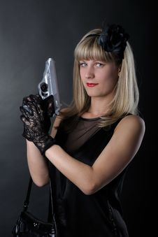 Free Gangster Woman Stock Image - 19462051