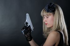 Free Gangster Woman Royalty Free Stock Photography - 19462067