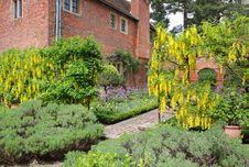 Free Path Through An English Walled Garden Royalty Free Stock Image - 19462256