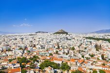 View Of Athens From Acropolis, Greece Stock Photos