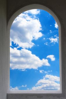 Window Frame With Sky Royalty Free Stock Photography
