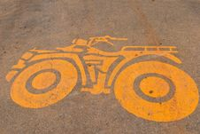 Atv Paint On The Asphalt Royalty Free Stock Image