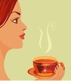 Free Girl With Cup Of Tea. Stock Image - 19463191