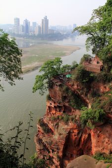 Free Leshan Giant Buddha Nine Plank Stock Images - 19463474