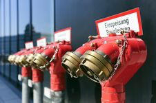 Free Extinguishing Water Connections Stock Images - 19463604