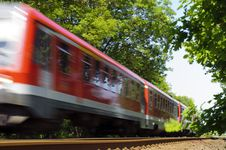 Free Red Passenger Train Royalty Free Stock Images - 19463609