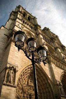 Free Beautiful View Of Notre Dame Cathedral In Paris Stock Images - 19463814