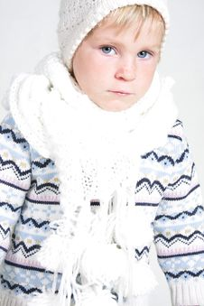 Free Child In Winter Clothes Royalty Free Stock Image - 19464136