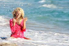 Free Beautiful Woman On Beach Stock Photo - 19464240