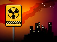Free Nuclear Danger Warning Royalty Free Stock Photos - 19464618