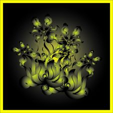 Flower Decorative Card Royalty Free Stock Photography