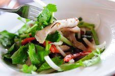 Spicy Pork Salad Stock Photo