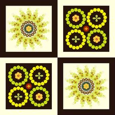 Free Pattern Flower Circle On Square Background Royalty Free Stock Photography - 19465527