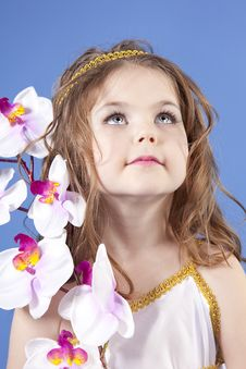 Free Beautiful Girl In The Dress Of The Goddess Stock Photos - 19466393