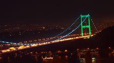 Free Fatih Sultan Mehmet Bridge By Night. Royalty Free Stock Image - 19466586
