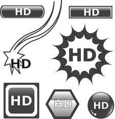 HD Glossy Web Button Set Stock Image