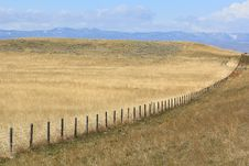 Free Fence Row In Eastern Wyoming Royalty Free Stock Image - 19467676