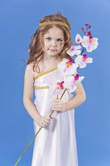 Free Beautiful Girl In The Dress Of The Goddess Stock Photography - 19467762