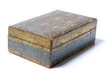 Antique Wood Box Stock Photo