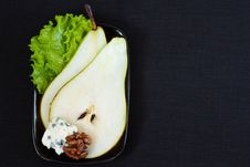 Free Pear With Blue Cheese. Stock Photography - 19468192