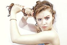 Free Woman And Hair Stock Photos - 19468803