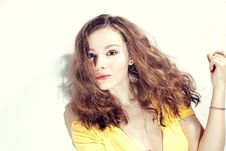Free Beauty With Wavy Hair Royalty Free Stock Photography - 19469007