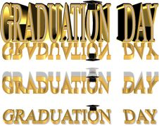 Free 3d Graduation Text Royalty Free Stock Photography - 19469467