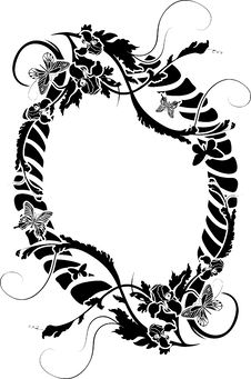 Free Ornate Frame With Flowers Stock Photo - 19469670