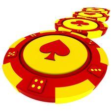 Casino Tokens Royalty Free Stock Photo