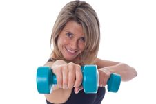 Free Woman Doing Exercises With Dumbels Stock Photo - 19469950