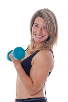Free Woman Doing Exercises With Dumbels Stock Photography - 19469952