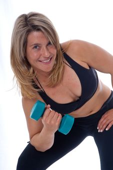 Free Woman Doing Exercises With Dumbels Stock Photography - 19469982