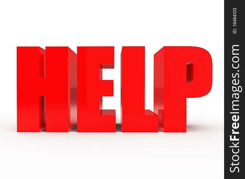 HELP 3d text